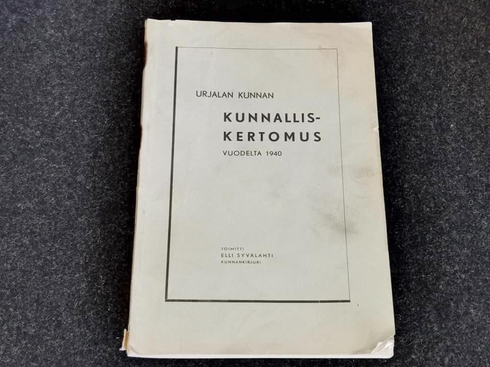 Kunnalliskertomus 1940